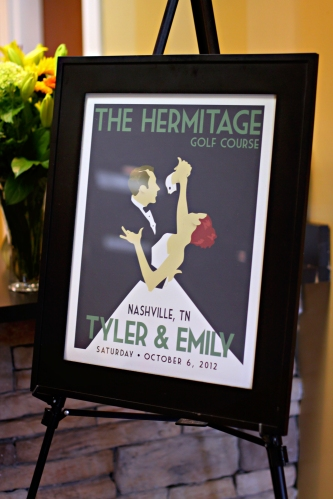 designed by incredible bridesmaid/graphic designer Candie Walter as a wedding gift