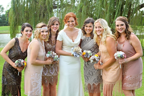 flapper bridesmaids