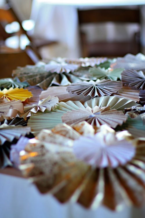 decorative paper pinwheel display