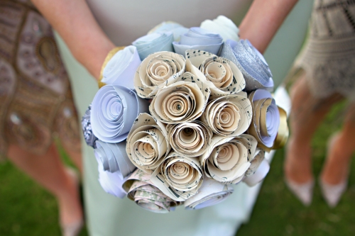 sheet music paper bouquet